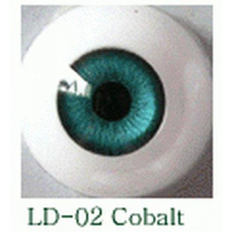 Акриловые глаза для кукол, цвет - темно-синий, 10 мм. Арт. G10LD-02