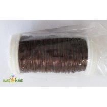 Бижутерная проволока, цвет коричневый, диаметр  0,3 мм