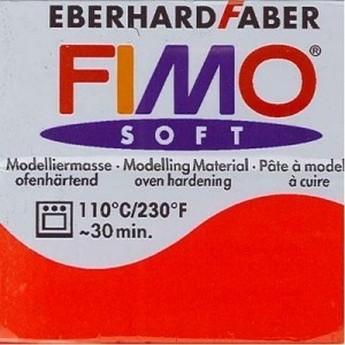 Полимерная глина Fimo Soft, 350г №24 - красный
