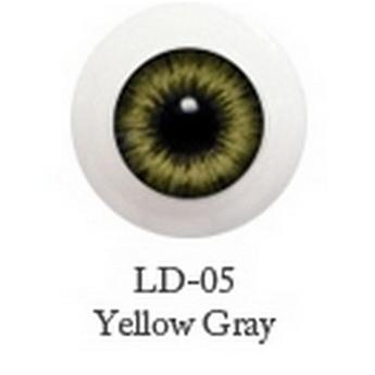 Акриловые глаза для кукол, цвет - желто-зеленый, 6 мм. Арт. G6LD-05