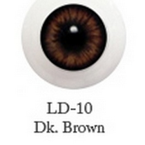 Акриловые глаза для кукол, цвет - карие, 12 мм. Арт. G12LD-10