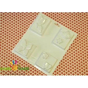 Пластиковая форма  Бабочки и цветы №02 5544