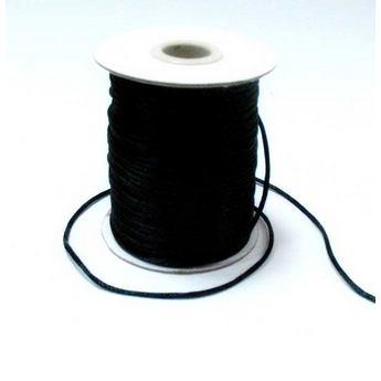 Шнур шелковый, цвет черный 3 мм
