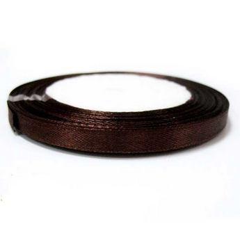 Атласная лента, цвет коричневый №29, 7мм