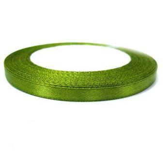 Атласная лента, цвет ярко-оливковый №30, 7мм