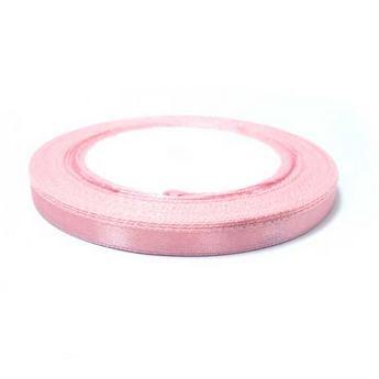 Атласная лента, цвет светло-розовый №33, 7мм
