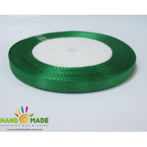 Атласная лента, цвет зеленый №38, 7мм