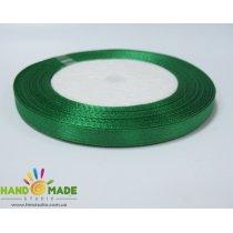 Атласная лента, цвет темно-зеленый, 7мм