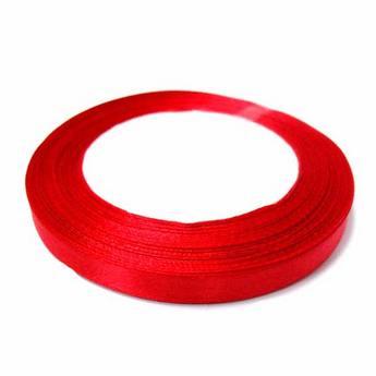 Атласная лента, цвет красный №46, 10мм