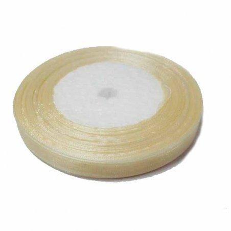 Органза, цвет кремовый №018, 10мм
