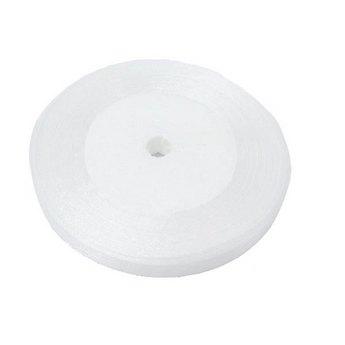 Органза, цвет белый №019, 10мм