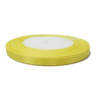 Атласная лента, цвет светло-желтый №25, 7мм