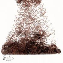 Волосы для кукол кудрявые, цвет - коричневый