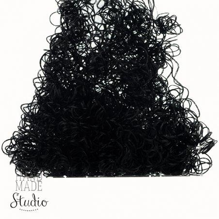 Волосы для кукол кудрявые, цвет - черный