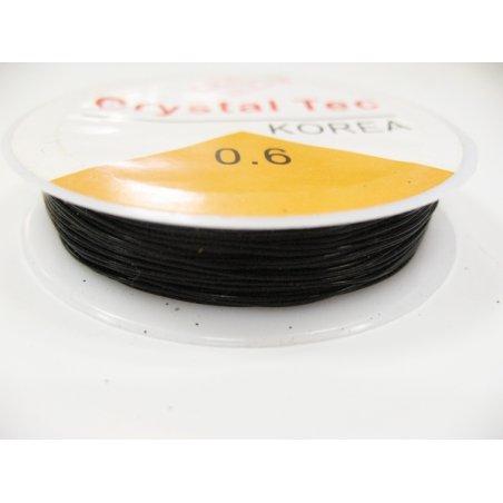 Силіконова нитка (спандекс) чорна, d 0,8 мм