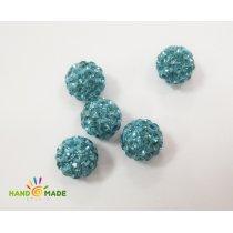 Бусина шамбала, цвет голубой, 1 см