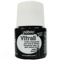 Краска для стекла прозрачная Vitrail 15 Черная, 45мл.