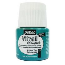 Краска для стекла непрозрачная Vitrail Opaque 43 Синий океан, 45мл.