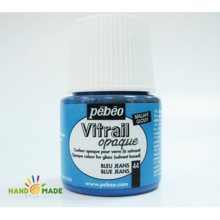 Краска для стекла непрозрачная Vitrail Opaque 44 Синий джинсовый
