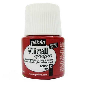 Краска для стекла непрозрачная Vitrail Opaque 45 Красный