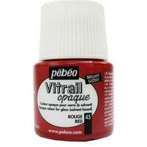 Краска для стекла непрозрачная Vitrail Opaque 45 Красный, 45мл.