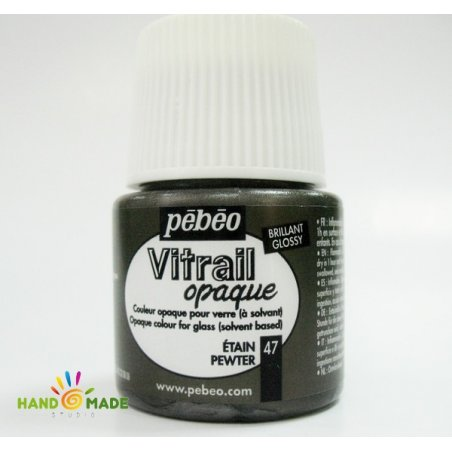 Краска для стекла непрозрачная Vitrail Opaque 47 Олово