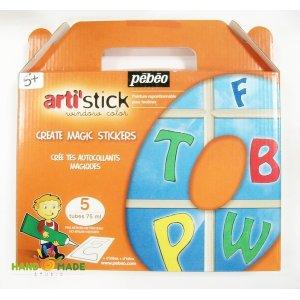 """Набор витражных красок для детей """"Алфавит"""""""