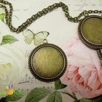 Основа для декорирования круглая, цвет бронза d 25 мм