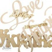 Деревяные слова и цифры: купить в Киеве и Украине по низкой цене слова из дерева в интернет магизин HandMade Studio